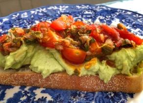 avocado butter on toast